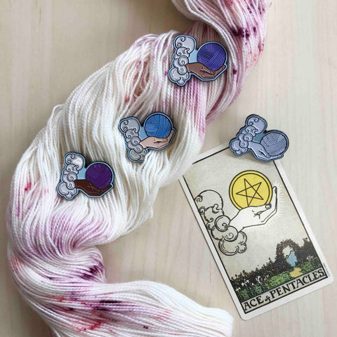 Ace of Yarn Enamel Pins