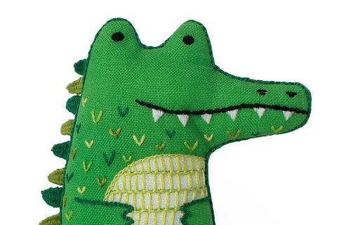Alligator Embroidery Doll Kit by Kiriki Press