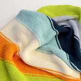 Kit - Not Quite Colorblock Blanket in Worsted Cotton