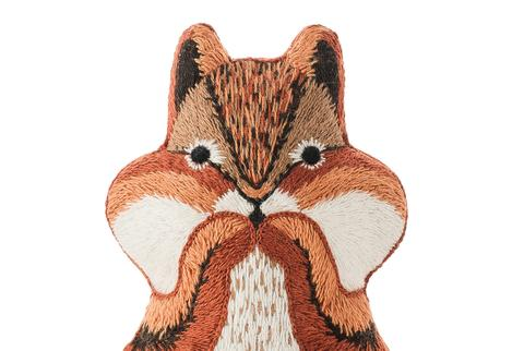 Chipmunk Embroidery Doll Kit by Kiriki Press