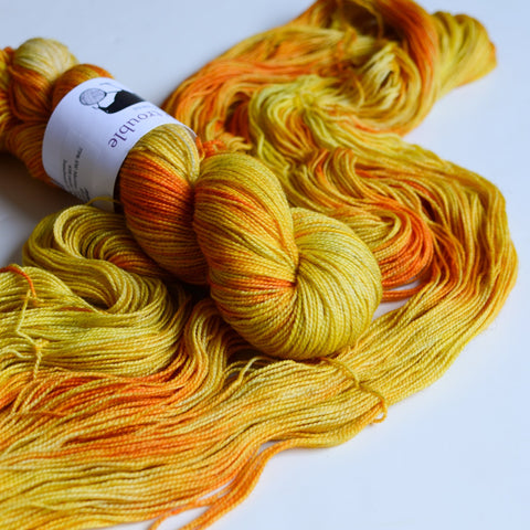 Toil & Trouble Hand Dyed Yarn - Shimmer Sock