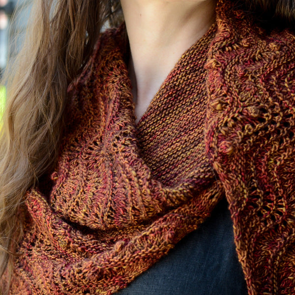 From the Embers - A Beltane Shawl Kit