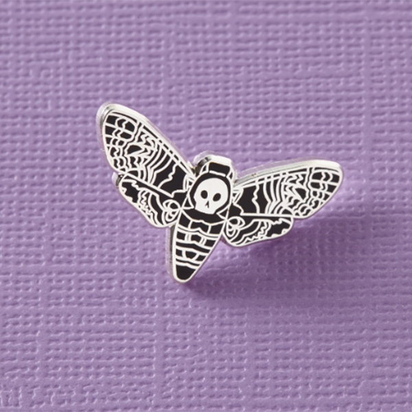 Dead Head Moth Enamel Pin