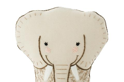 Elephant Embroidery Doll Kit by Kiriki Press
