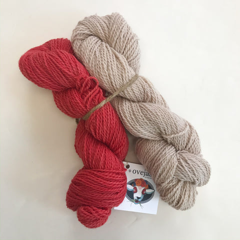 Ovejas Skein Bundle by Prado de Lana - Madder/Logwood & Wattle
