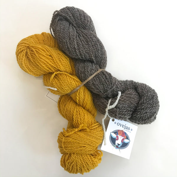 Ovejas Skein Bundle by Prado de Lana - Marigold & Natural