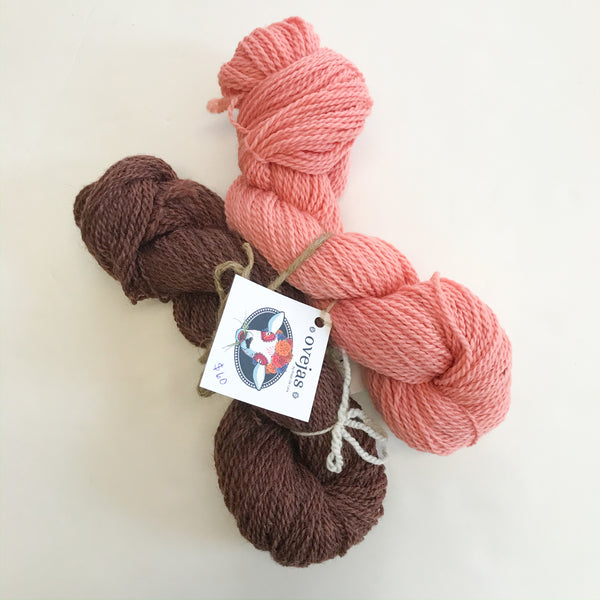 Ovejas Skein Bundle by Prado de Lana - Madder 2 / Goldenrod, Madder, Wattle, Wild Carrot
