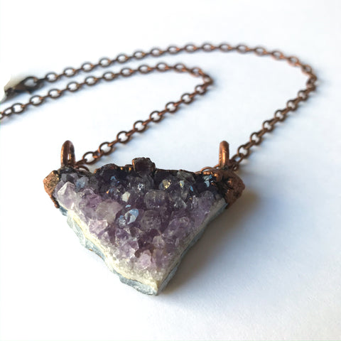 Amethyst Cluster Electroform Necklace