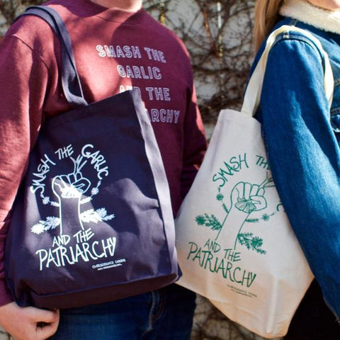 Smash the Garlic and the Patriarchy Tote Bag