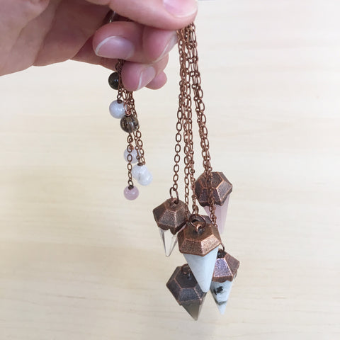 Electroform Copper & Crystal Pendulum - Clear Quartz