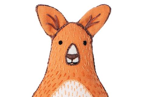Kangaroo Embroidery Doll Kit by Kiriki Press