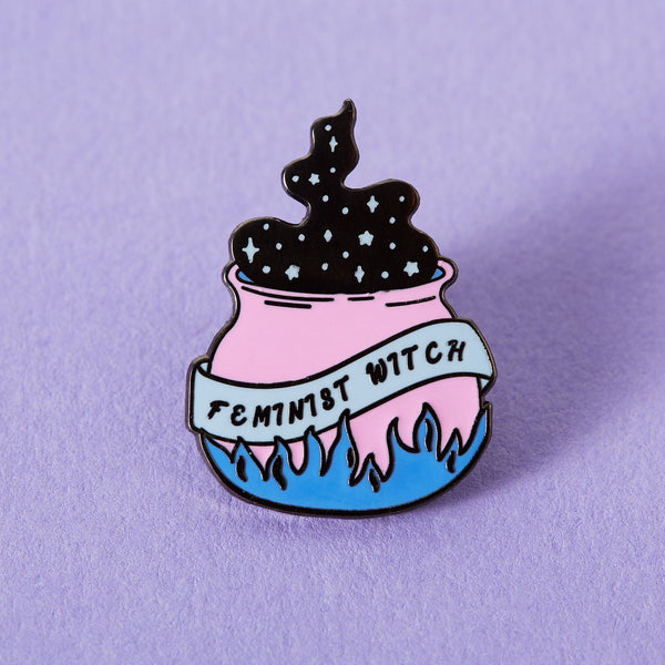 Feminist Witch Cauldron Enamel Pin