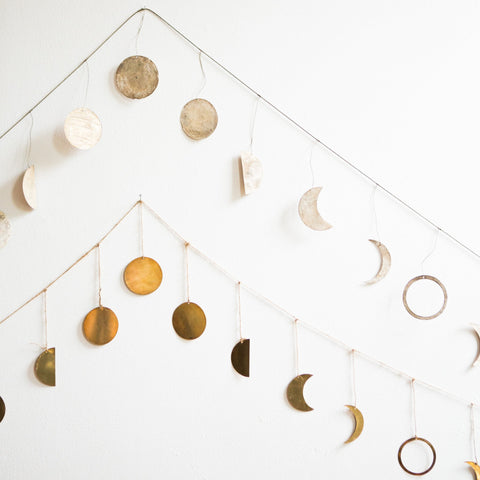Hand-Cut Moon Phase Garland
