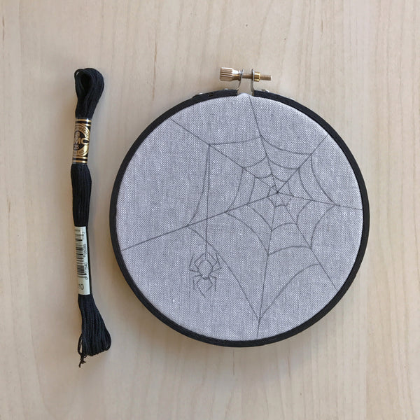 Spider Embroidery Kit by Little Thimble Studios