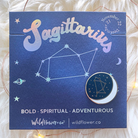Constellation Zodiac Enamel Pin - Sagittarius