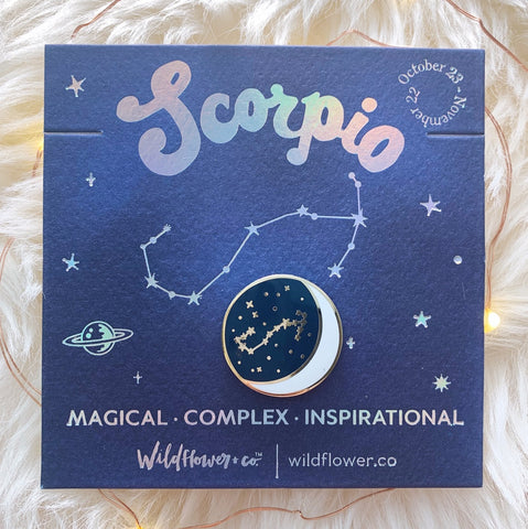 Constellation Zodiac Enamel Pin - Scorpio
