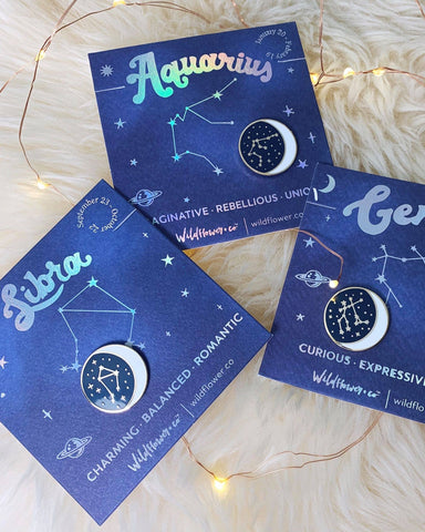 Constellation Zodiac Enamel Pin - Aries