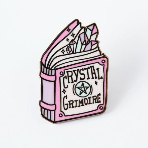 Crystal Grimoire Enamel Pin
