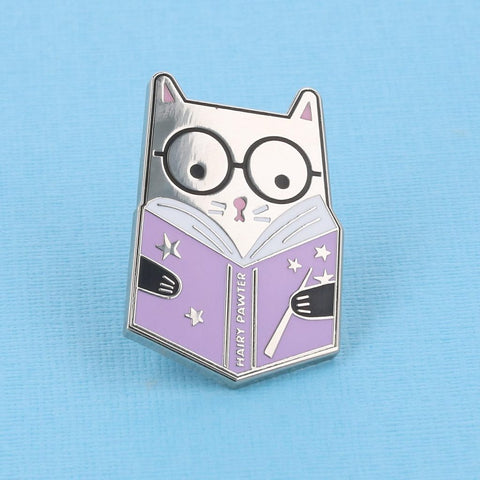Hairy Pewter Enamel Pin