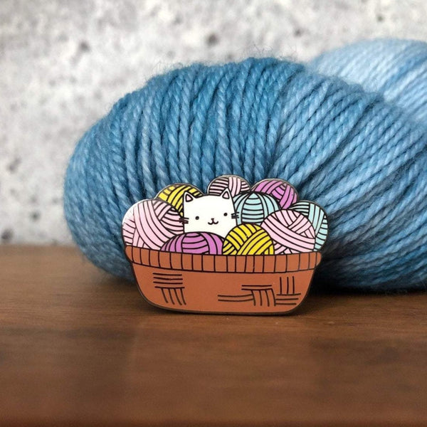 Cat Yarn Enamel Pin