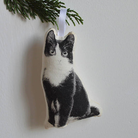 Silkscreen Cat and Dog Ornaments