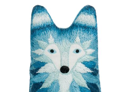 Wolf Embroidery Doll Kit by Kiriki Press
