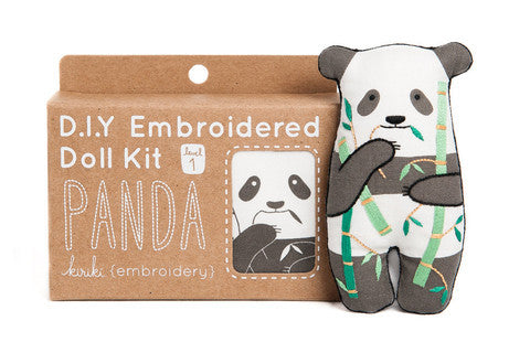 Panda Embroidery Doll Kit by Kiriki Press