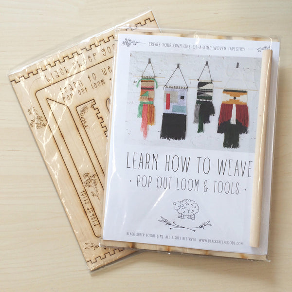 Weaving Kit: Pop Out Loom and Tools