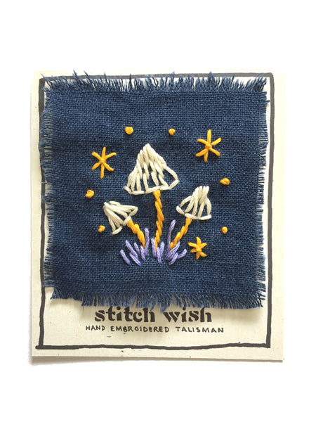 """Mycelium"" Hand Embroidered Talisman by Christi Johnson"