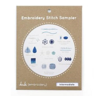 Intermediate Embroidery Stitch Sampler Kit by Kiriki Press