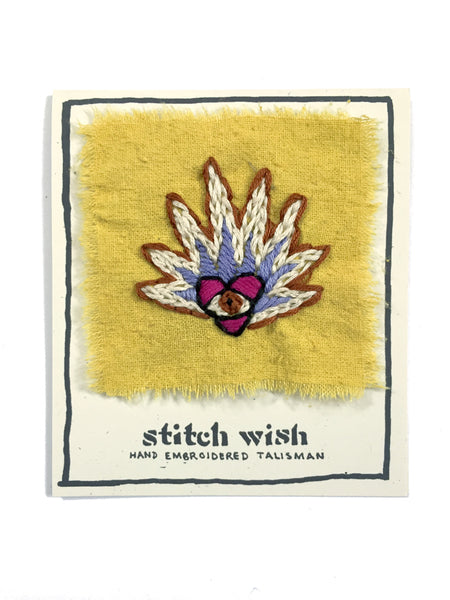 """Spark Me Up"" Hand Embroidered Talisman by Christi Johnson"