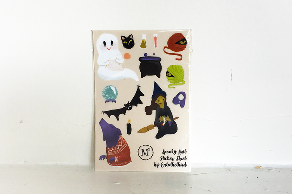 Spooky Knits Sticker Sheet