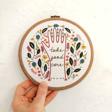 Take Good Care - Cozyblue Handmade Embroidery Kit
