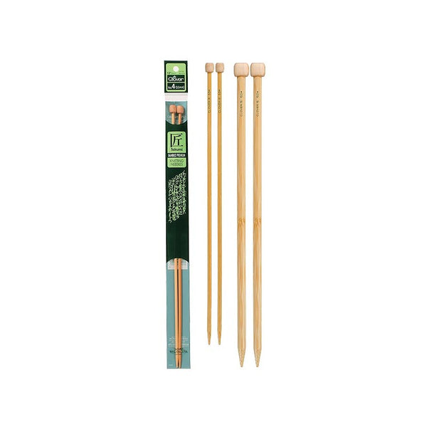 Clover Takumi Bamboo Straight Needles 13 +14 in Length