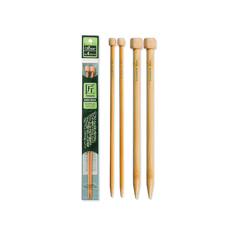 Clover Takumi Bamboo Straight Needles 9-in Length
