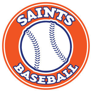 Saints Baseball Car Decal
