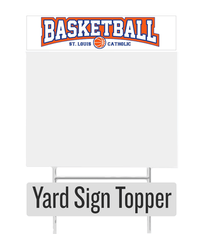 Basketball Yard Sign Topper