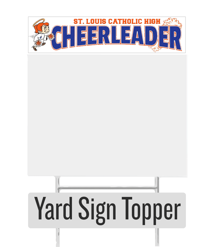 Cheerleader Yard Sign Topper