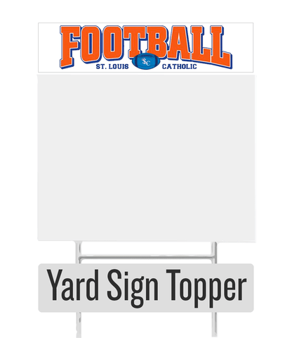 Football Yard Sign Topper