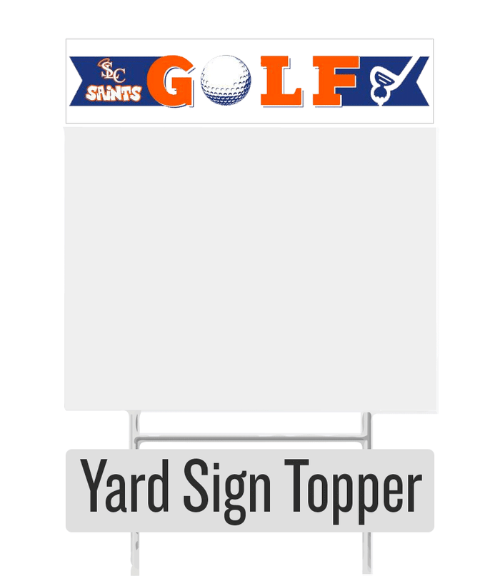 Golf Yard Sign Topper