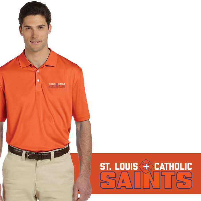 SLC Men's Polo (Dri-Fit) Blue / Orange