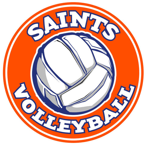 Saints Volleyball Car Decal