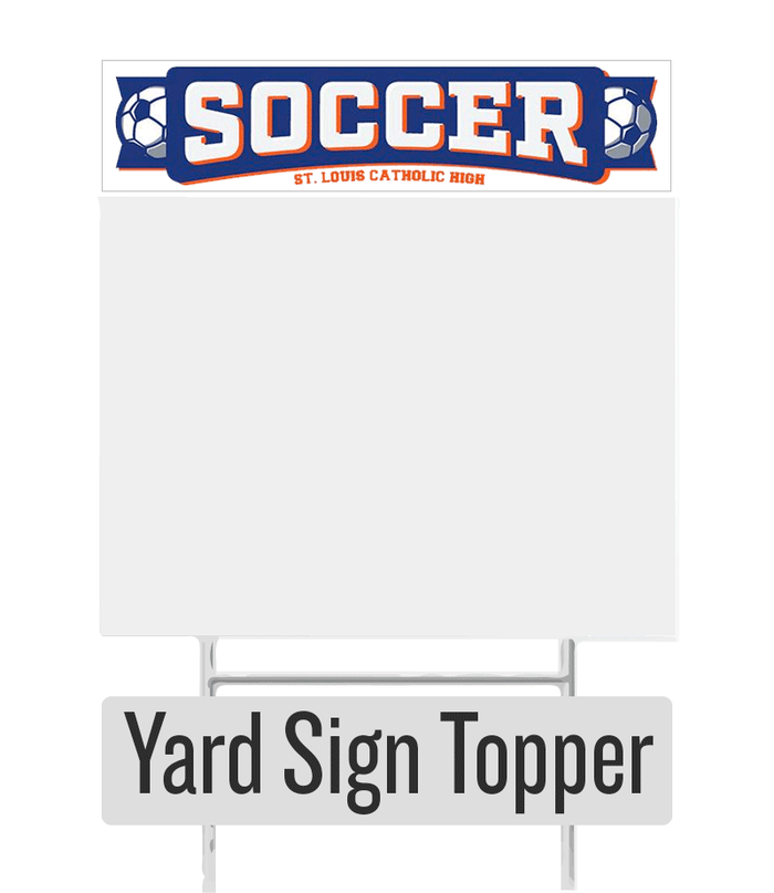 Soccer Yard Sign Topper