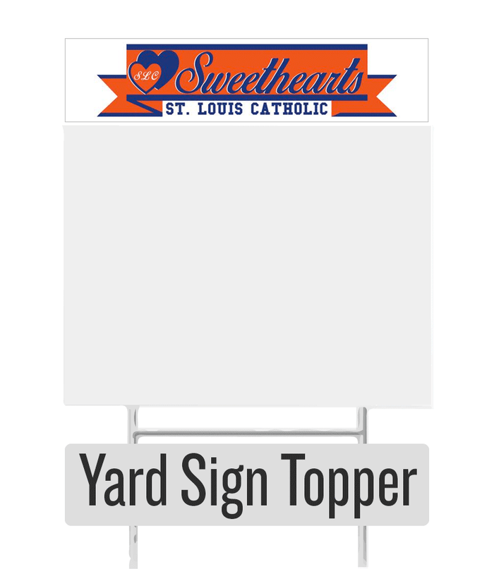 Sweetheart Yard Sign Topper