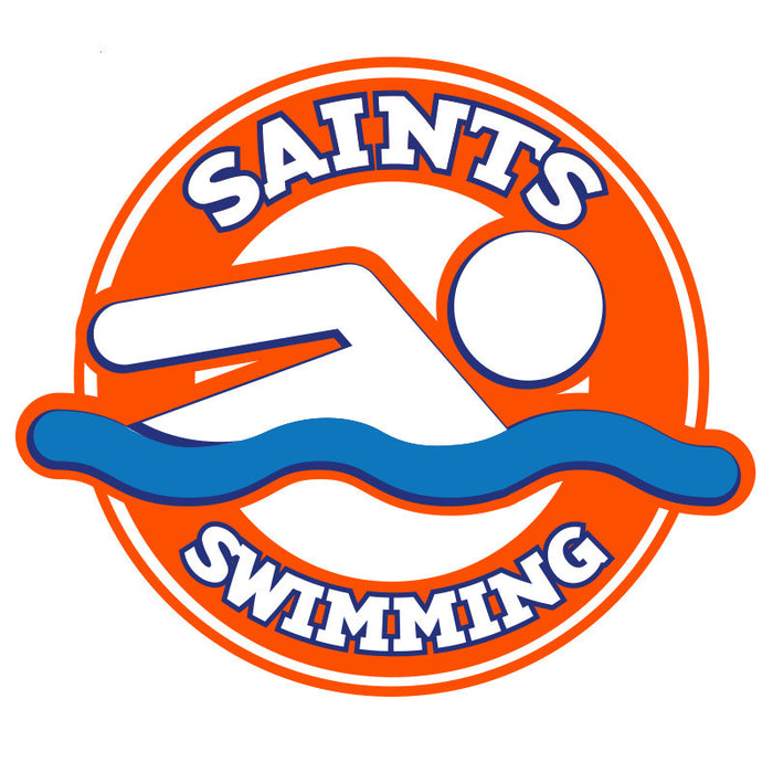 Saints Swimming Car Decal
