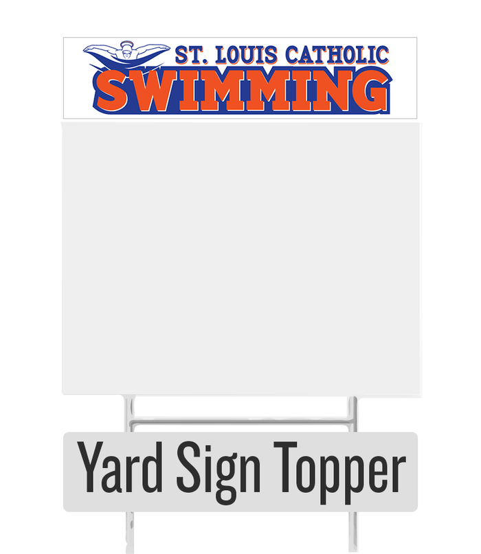 Swim Team Yard Sign Topper