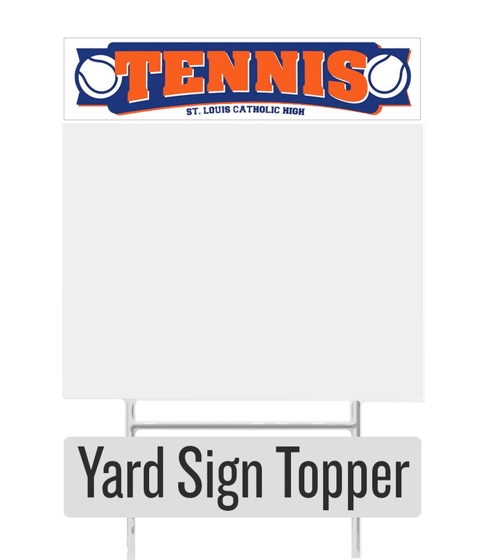 Tennis Yard Sign Topper