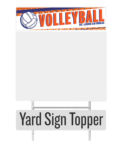 Volleyball Yard Sign Topper