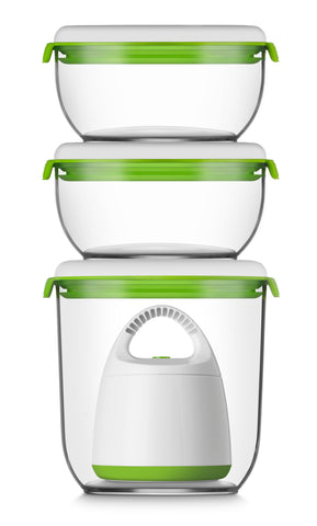 FOSA Vacuum food storage Combo Set - LARGE, FOSa 4-piece set