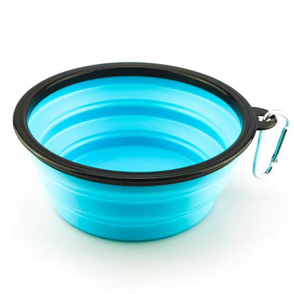 1000ML Pet Bowl Folding Silicone Travel Dog Bowls Walking Portable Water Bowl For Small Medium Dogs Cat Bowls Pet Eating Dishes